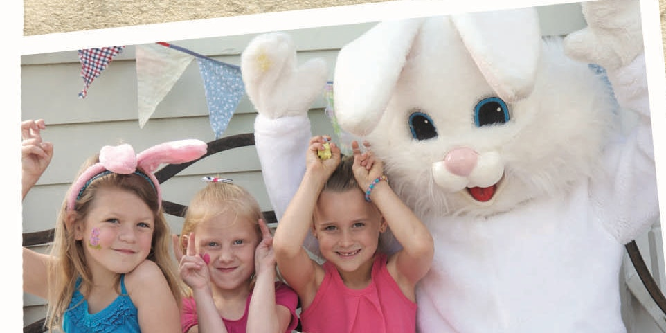 Image of children with easter bunny