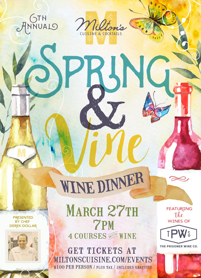 Spring and Vine Wine Dinner Event